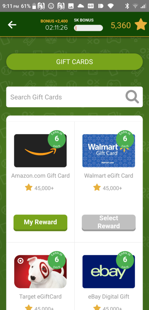 Rewarded Play Gift Cards